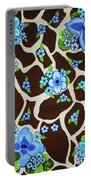 Floral Giraffe Print Portable Battery Charger