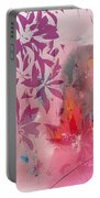 Floral Illusion Portable Battery Charger