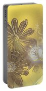 Floral In Gold And Yellow Portable Battery Charger
