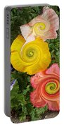 Floral Kaleidoscope Portable Battery Charger