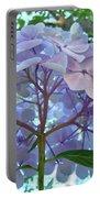 Floral Landscape Blue Hydrangea Flowers Baslee Troutman Portable Battery Charger