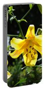 Floral Lilies Art Yellow Lily Flowers Giclee Baslee Troutman Portable Battery Charger