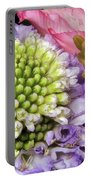 Floral Macro Portable Battery Charger