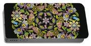 Floral Mandala Pattern Portable Battery Charger