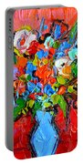 Floral Miniature - Abstract 0115 Portable Battery Charger