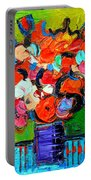 Floral Miniature - Abstract 0315 Portable Battery Charger