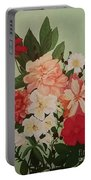 Floral On Green Portable Battery Charger