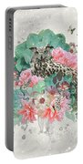 Floral Owl Portable Battery Charger