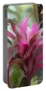 Floral Pastel Portable Battery Charger by Tom Prendergast