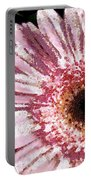 Floral Pink Creative Fragmented In Thick Paint Portable Battery Charger