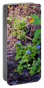 Floral Print 003 Portable Battery Charger