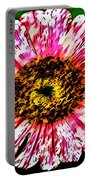 Floral Red And White Painting  Portable Battery Charger