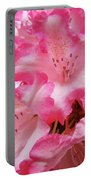 Floral Rhodies Flowers Pink White Art Baslee Troutman Portable Battery Charger