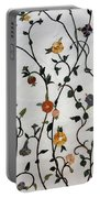 Floral Satin Portable Battery Charger