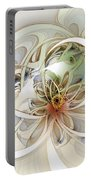 Floral Swirls Portable Battery Charger by Amanda Moore