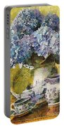 Floral Table Onset In Tiny Bubbles Portable Battery Charger