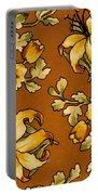 Floral Textile Design Portable Battery Charger