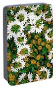 Floral Texture In The Summer Portable Battery Charger