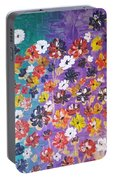 Floral Theme Portable Battery Charger