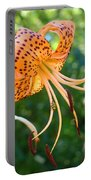 Floral Tiger Lily Flower Art Print Orange Lilies Baslee Troutman Portable Battery Charger