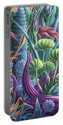 Floral Whirl Portable Battery Charger