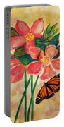 Floral With Butterfly Portable Battery Charger
