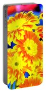 Floral Yellow Painting Lit Portable Battery Charger