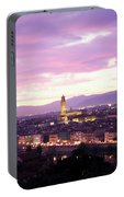 Florence Dusk, Tuscany, Italy Portable Battery Charger