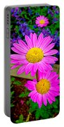 Florescent Daisies Portable Battery Charger