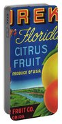 Florida Eureka Citrus Fruit Crate Label Portable Battery Charger
