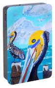 Florida Gulf Coast Pelicans  Portable Battery Charger