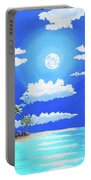Florida Keys Moon Rise Portable Battery Charger