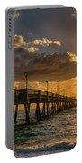 Florida Sunrise At Dania Beach Pier Portable Battery Charger