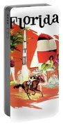 Florida, Vintage Travel Poster Portable Battery Charger