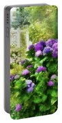 Flower - Hydrangea - Lovely Hydrangea  Portable Battery Charger by Mike Savad
