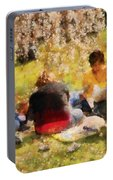 Flower - Sakura - Afternoon Picnic Portable Battery Charger