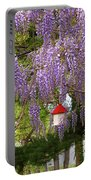 Flower - Wisteria - A House Of My Own Portable Battery Charger by Mike Savad