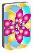 Flower 1317 - Abstract Art Print - Fantasy - Digital Art - Fine Art Print - Flower Print Portable Battery Charger