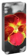 Flower 5 - Reverse Black And White Portable Battery Charger