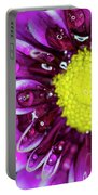 Flower And Droplets Portable Battery Charger