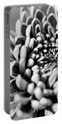 Flower Black And White Portable Battery Charger