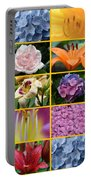 Flower Collage 1 Portable Battery Charger