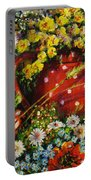 Flower Extravaganza Portable Battery Charger