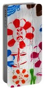 Flower Face Murial Portable Battery Charger