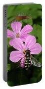 Flower Fly On Stinky Bob Portable Battery Charger
