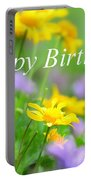 Flower Garden Birthday Card Portable Battery Charger