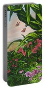 Flower Garden Vii Portable Battery Charger