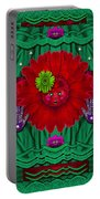 Flower Girl With Sunrose In Her Hair And Pandabears Portable Battery Charger