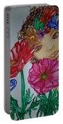 Flower Goddess  Portable Battery Charger