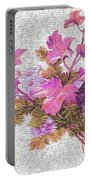 Flower Graffiti Portable Battery Charger